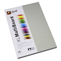 QUILL XL MULTIBOARD 210GSM A4 GREY PACK 50