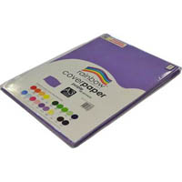 RAINBOW COVER PAPER 125GSM A3 PURPLE PACK 100