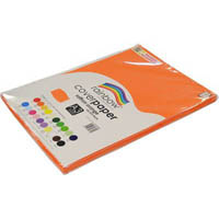 RAINBOW COVER PAPER 125GSM A3 SAFFRON ORANGE PACK 100