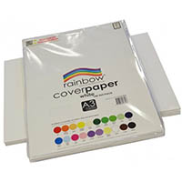RAINBOW COVER PAPER 125GSM A3 WHITE PACK 100