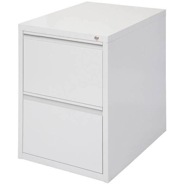 Image for INITIATIVE FILING CABINET 2 DRAWER 475 X 600 X 675MM SILVER GREY from Exchange Printers Office National