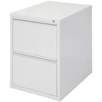 INITIATIVE FILING CABINET 2 DRAWER 475 X 600 X 675MM SILVER GREY
