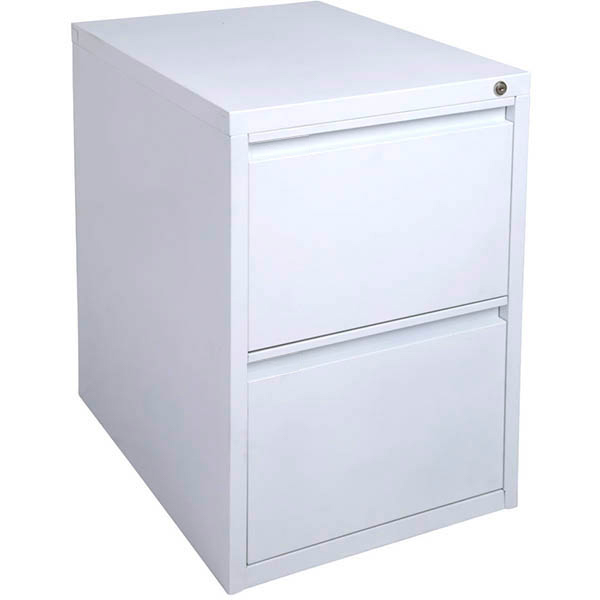 Image for INITIATIVE FILING CABINET 2 DRAWER 475 X 600 X 675MM WHITE SATIN from Exchange Printers Office National