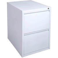 INITIATIVE FILING CABINET 2 DRAWER 475 X 600 X 675MM WHITE SATIN