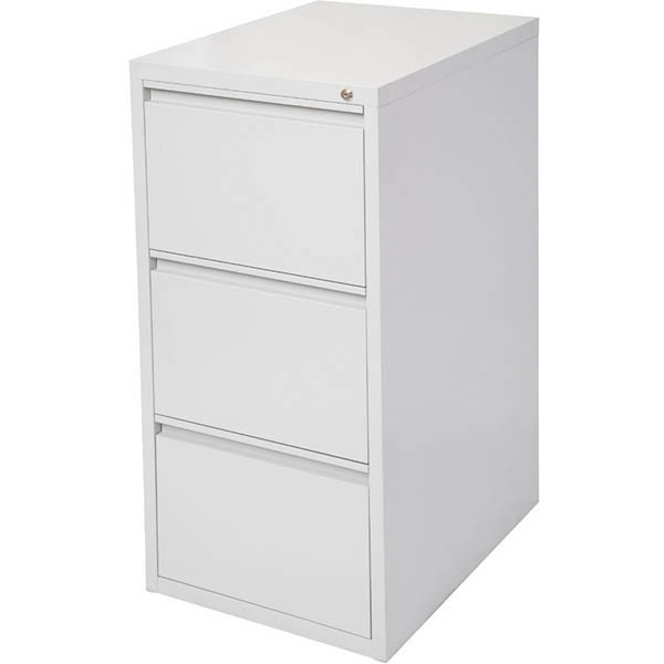 INITIATIVE FILING CABINET 3 DRAWER 475 X 600 X 1020MM SILVER GREY