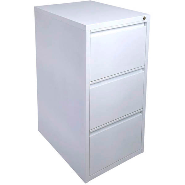 Image for INITIATIVE FILING CABINET 3 DRAWER 475 X 600 X 1020MM WHITE SATIN from Exchange Printers Office National