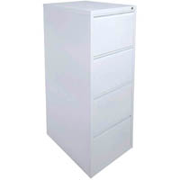 INITIATIVE FILING CABINET 4 DRAWER 475 X 600 X 1320MM WHITE SATIN