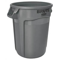 BRUTE 20 ROUND CONTAINER WITHOUT LID 75 LITRE GREY