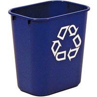 RUBBERMAID DESKSIDE RECYCLING CONTAINER WITH SYMBOL SMALL 12.9 LITRE BLUE