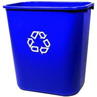 RUBBERMAID DESKSIDE RECYCLING CONTAINER WITH SYMBOL MEDIUM 26.6 LITRE BLUE