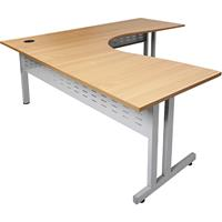 RAPID SPAN CORNER WORKSTATION 1800 X 1800 X 700MM BEECH