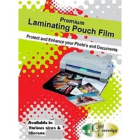 GOLD SOVEREIGN LAMINATING POUCH POSTCARD 150 MICRON 100 X 146MM CLEAR BOX 100