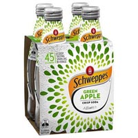 SCHWEPPES APPLE CRISP SODA BOTTLE 300ML CARTON 24