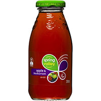 SPRING VALLEY APPLE AND BLACKCURRANT JUICE GLASS 250ML CARTON 30