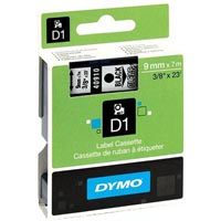 DYMO 40910 D1 LABELLING TAPE 9MM X 7M BLACK ON CLEAR