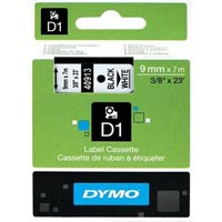 DYMO 40913 D1 LABELLING TAPE 9MM X 7M BLACK ON WHITE