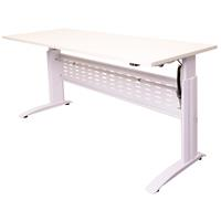 RAPID SPAN ELECTRIC HEIGHT ADJUSTABLE DESK 1200 X 700MM WHITE/WHITE