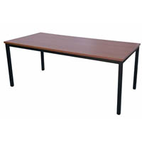 RAPIDLINE STEEL FRAME TABLE 1200 X 600MM CHERRY