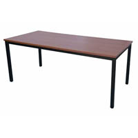 RAPIDLINE STEEL FRAME TABLE 1800 X 900MM CHERRY