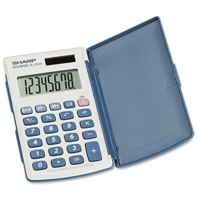 Image for SHARP EL243S POCKET CALCULATOR WITH TWIN POWER AND HARD COVER 8 DIGIT from Our Town & Country Office National