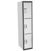 STEELCO SCHOOL LOCKER HEAVY DUTY 1830 X 380 X 580MM DARK/LIGHT GREY