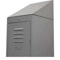 STEELCO SLOPING TOP FOR SINGLE LOCKER 380MM SILVER GREY