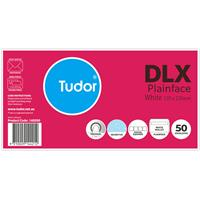 TUDOR DLX ENVELOPES 120 X 235MM WHITE PACKS OF 50 BOX 500