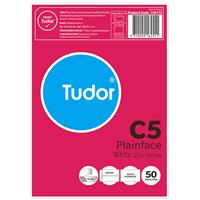 TUDOR C5 ENVELOPES POCKET PLAINFACE STRIP SEAL 80GSM 162 X 229MM WHITE PACK 50