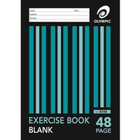 OLYMPIC STRIPE EXERCISE BOOK UNRULED 55GSM 48 PAGE A4