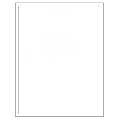 Image for REFLEX MAILING LABELS 1UP 199.6 X 289.1MM WHITE BOX 100 from Office National Perth CBD