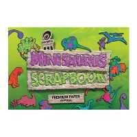 OLYMPIC SCRAPBOOK MINISAURUS 90GSM BOND PAPER 168 X 240MM 64 PAGE