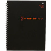 WHITELINES SPIRAL NOTEPAD 140 PAGE 7MM RULED 80GSM A5 PACK 5