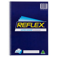 REFLEX SPIRAL NOTEPAD 140 PAGE 80GSM A4 PACK 10