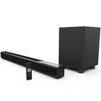 LASER SOUND BAR WITH BLUETOOTH AND WIRELESS SUB-WOOFER BLACK