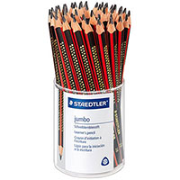 STAEDTLER NATURAL JUMBO TRIANGULAR PENCIL 2B TUB 72