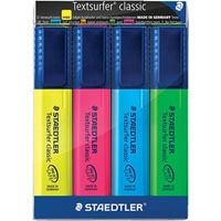 STAEDTLER TEXTSURFER CLASSIC HIGHLIGHTER PACK 4