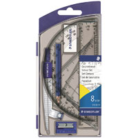 STAEDTLER 550 NORIS CLUB SCHOOL MATHS SET 8 PIECE