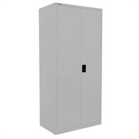 STEELCO STATIONERY CUPBOARD 3 SHELVES 1830 X 914 X 436MM SILVER GREY