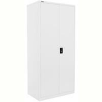 STEELCO STATIONERY CUPBOARD 4 SHELVES 2000 X 914 X 436MM WHITE SATIN