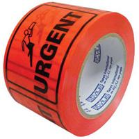STYLUS PRINTED PACKAGING LABELS URGENT 75 X 50MM FLUORO ROLL 500
