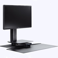 SYLEX UPRITE ERGO SINGLE MONITOR SIT-STAND WORKSTATION BLACK