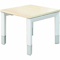 OBLIQUE HEIGHT ADJUSTABLE COFFEE TABLE 600 X 600MM SOFT MAPLE