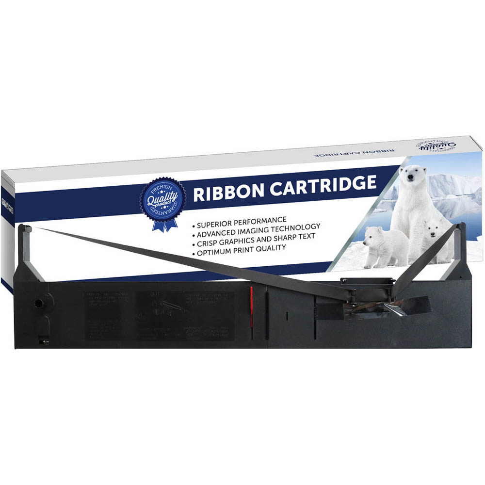 Image for COMPATIBLE EPSON C13S015055 PRINTER RIBBON BLACK from The Paper Bahn Office National