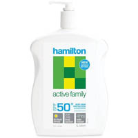 HAMILTON ACTIVE FAMILY SUNSCREEN LOTION SPF50+ 1 LITRE