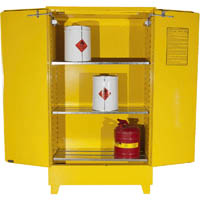 BRADY FLAMMABLE LIQUID STORAGE CABINET VALUE 160 LITRE YELLOW