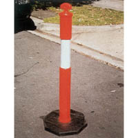 BRADY T-TOP TEMPORARY BOLLARD WITH 6KG BASE ORANGE