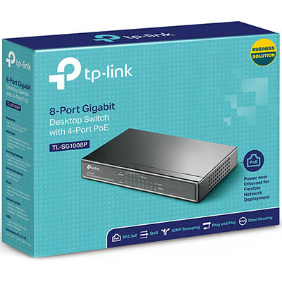 Tp-Link Tl-Sg1008P 8-Port Gigabit Desktop Switch With 4-Port