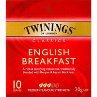 TWININGS TEABAGS ENGLISH BREAKFAST PACK 10
