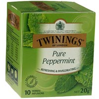 TWININGS TEABAGS PEPPERMINT PACK 10