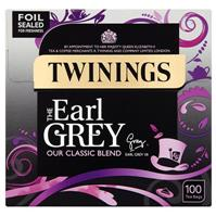 TWININGS TEABAGS EARL GREY PACK 100